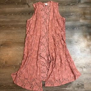 Boho Dusty Rose Duster 🌺🌷